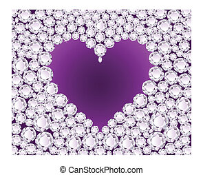 Vector purple heart on diamond back - Vector purple heart on...