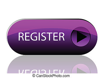 Vector purple register button - vector glossy button ...