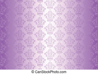 purple wallpaper with ornaments