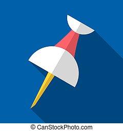 Vector push pin origami flat icon