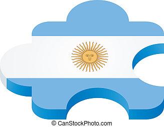Vector puzzle Argentina