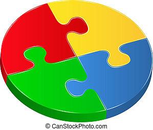 Vector puzzle circle