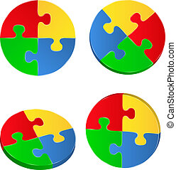 Vector Puzzle Circles