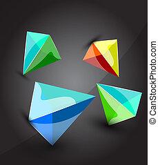 Vector pyramid background