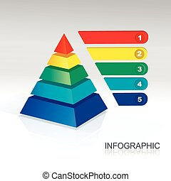 Vector Pyramid for infographic and presentations