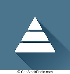 Vector pyramid icon