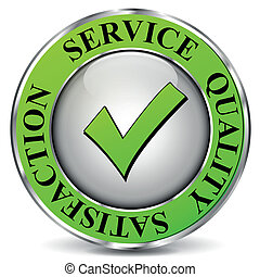 Vector quality service icon - Vector illustration of quality...