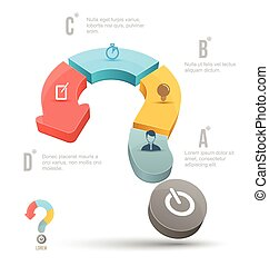 Vector Question mark business concepts with icons. can use for info graphic, loop business report or plan, modern template, education template, business brochure, system diagram.