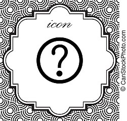 vector question mark icon on a geometric background
