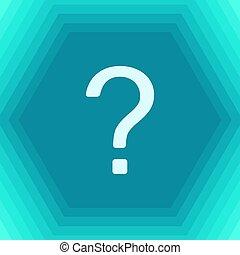 Vector question mark icon