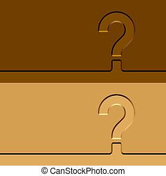 vector question mark imprints