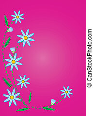 Vector Quilted Blue Cornflowers