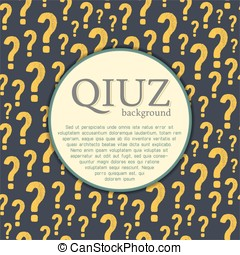 Vector quiz background. Question and answer concept