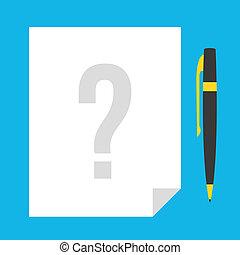 Vector Quiz Icon