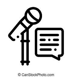 vector, réplica, icono, hablar, micrófono