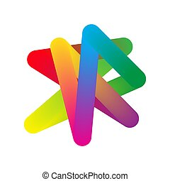 vector., résumé, coloré, -, forme