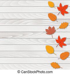 vector., résumé, leaves., automne, fond, tomber