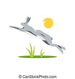 Vector Rabbit Cartoon illustration.