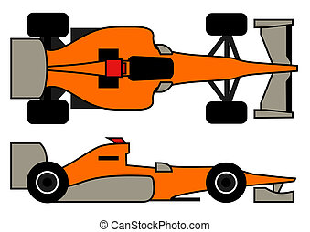 Vector racing car