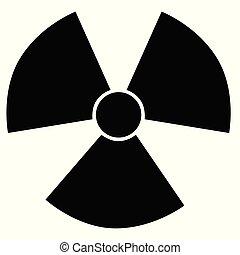 Radiation active hazard symbol sign