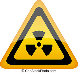 Vector radiation sign illustration