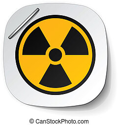 vector radiation symbol label