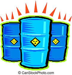 Vector radioactive barrels