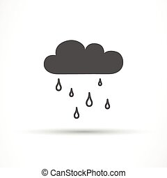 Vector Rain Cloud Icon