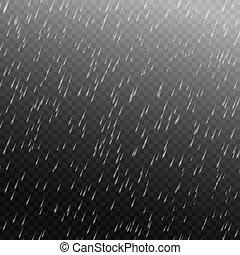 Vector rain isolated