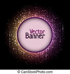 Vector rainbow abtract element with glow effect
