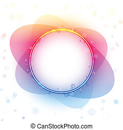 Rainbow Circle Border Transparency Effect.