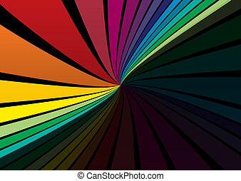 Vector rainbow color design templat