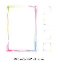 Vector rainbow frame isolated on white background