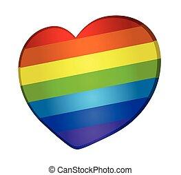 Vector rainbow heart - Vector rainbow heart, dedicated to...
