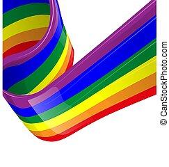 Vector rainbow LGBT flag