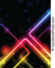 Rainbow Lines Background Neon Laser - Vector - Rainbow Lines...
