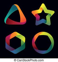Vector rainbow logo templates