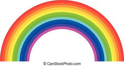Vector rainbow on white background. Light spectrum