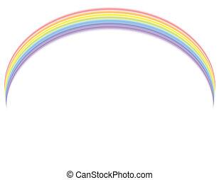 Vector - Rainbow over white