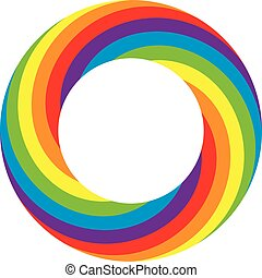 vector rainbow round wheel circle - vector colorful round...
