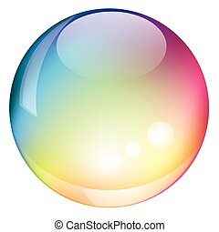 Vector rainbow sphere