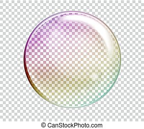 Vector Rainbow Water Bubbles. Transparent Isolated Realistic Design Elements. Can be used with any Background.