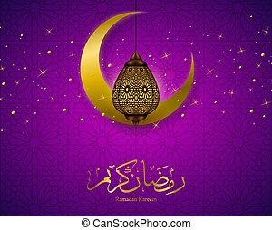 vector, ramadan, illustratie, kareem