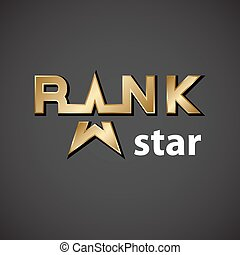 vector rank golden star