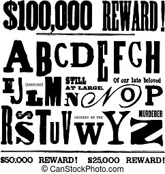 Vector Ransom Note Letters