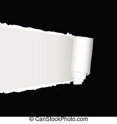 vector, rasgado, papel, ilustración