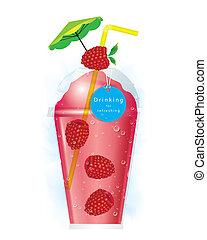 Vector raspberry smoothie