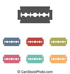 Vector razor blade icons set