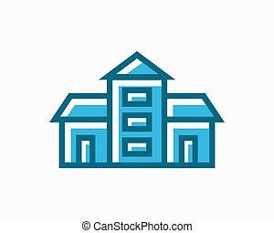 Vector real estate icon or logo