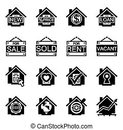 Vector Real estate icon set